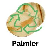 vaisselle jetable en feuille de palmier biodégradable écologique et compostable