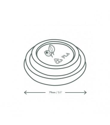 COUVERCLE CPLA POUR GOBELET à café jetable 300 à 600 ml COMPOSTABLE