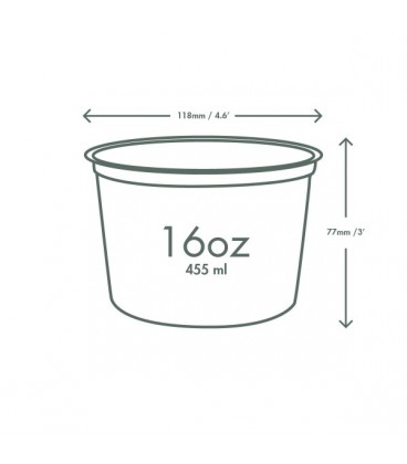 POTS ROND DELI PLA 500 ml COMPOSTABLE recyclable