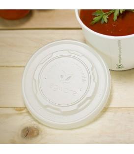 COUVERCLE ROND CPLA PLAT COMPOSTABLE - vaisselle jetable biodégradable pour les professionnels