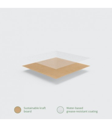 BOITE ALIMENTAIRE KRAFT N°1 COMPOSTABLE - vaisselle jetable biodégradable