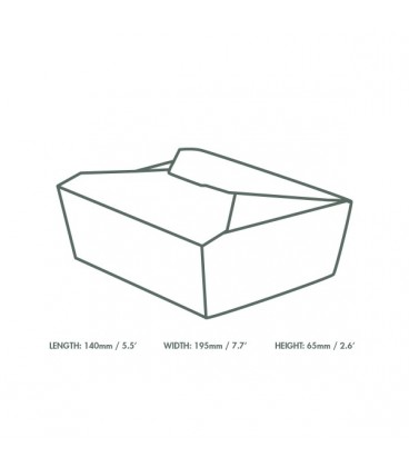 BOITE ALIMENTAIRE KRAFT N°3 - Vaisselles jetables compostable pour les professionnels de la vente à emporter