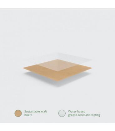 BOITE ALIMENTAIRE KRAFT N°5 COMPOSTABLE - vaisselle jetable compostable pour professionnel de la vente à emporter