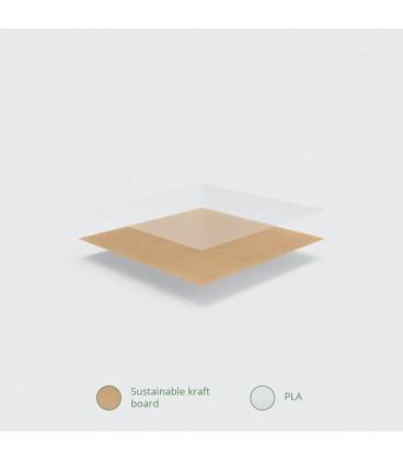BOLS À SALADE AVEC FENETRE KRAFT 650ML COMPOSTABLE