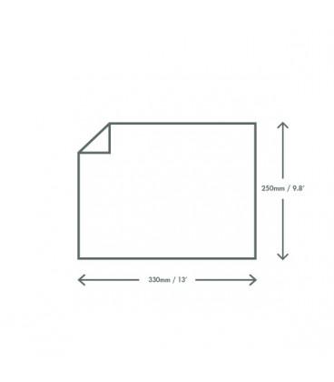 PAPIER ALIMENTAIRE BURGER 250X330MM COMPOSTABLE - vaisselle jetable recyclable