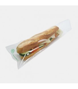 SAC À SANDWICH TRANSPARENT compostable recyclable