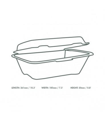 BOÎTE A EMPORTER 18 X 12.5 CM - 500 BOÎTES