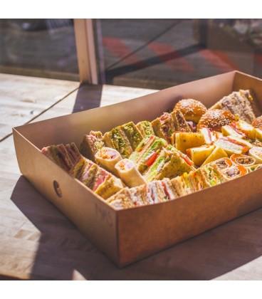 GRANDE BOÎTE POUR PLATEAU SANDWICH ET COMPARTIMENTS- 25 BOÎTES