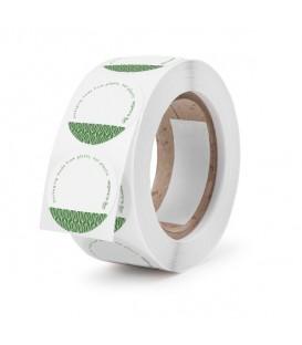 Étiquette blanche autocollante ronde 45 mm - 1000 étiquettes