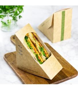 BOÎTE A SANDWICH TRIANGULAIRE EN KRAFT DE 6.5 CM- 500 BOÎTES