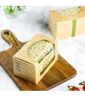 BOÎTE A SANDWICH RECTANGULAIRE EN KRAFT- 500 BOÎTES