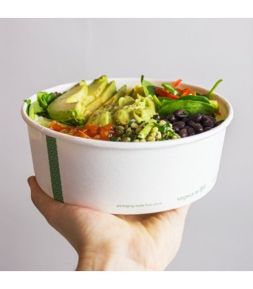 Bol à salade large biodégradable - 18,5 cm - 300 bols