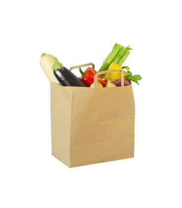 GRAND SAC EN PAPIER RECYCLE 26CM VOLUME 11.6L COMPOSTABLE