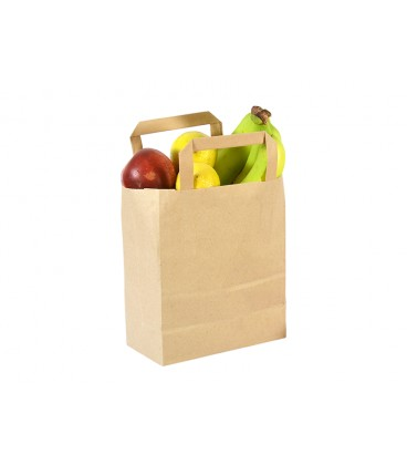 PETIT SAC EN PAPIER RECYCLE 18CM VOLUME 3.6L COMPOSTABLE