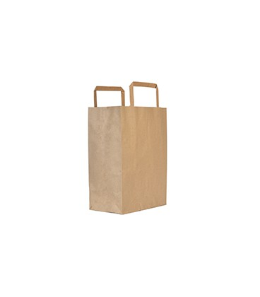 SAC MOYEN EN PAPIER RECYCLE 21.5CM VOLUME 6L COMPOSTABLE