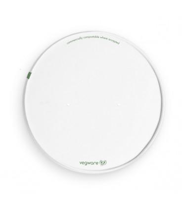 Couvercle blanc respirant écologique pour bol large - 300 couvercles
