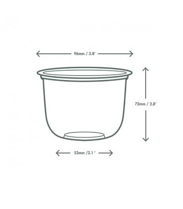 Récipient rond bella en PLA 355 ml - 1000 récipients