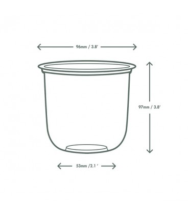 Récipient rond bella en PLA 473 ml - 1000 récipients