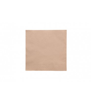 SERVIETTE ECRUE EN FIBRE RECYCLEE COMPOSTABLE