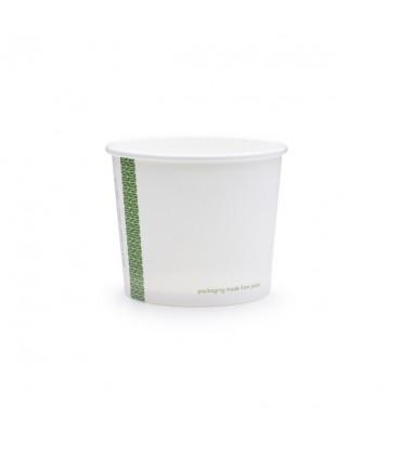 POT ROND à soupes et glaces 300 ML COMPOSTABLE et biodégradable