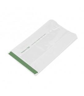 Sachet blanc avec fenêtre en Natureflex pour aliments chauds 15x25 cm - 500 sachets