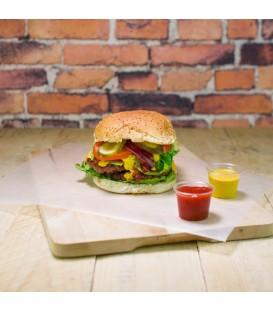 Papier burger uni blanc compostable - 1000 feuilles