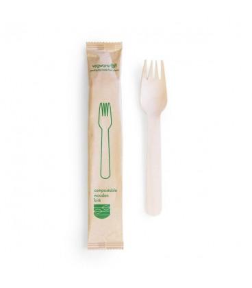 Fourchette en bois compostable - 500 fourchettes