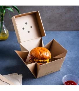Boîte à burger haut de gamme 12,2x10,2 cm - 100 boîtes
