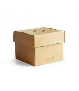 Boîte à burger premium 12,2x10,2 cm - 100 boîtes