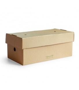 Boîte à burger premium 24,5 x 12 cm - 100 boîtes