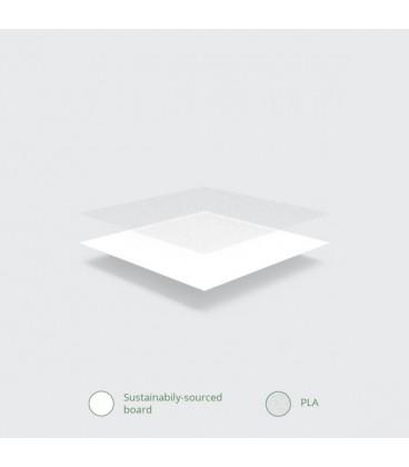 Couvercle en papier plat -