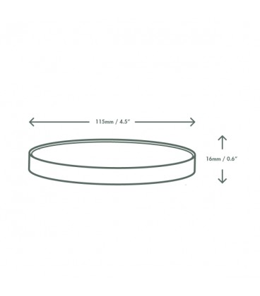 Couvercle en papier plat pour grands bols à soupe- 500 couvercles