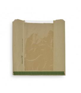 Sachet en kraft avec fenêtre NatureFlex 25 x 25 cm - 1000 sachets