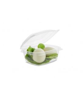 BARQUETTE À COUVERCLE RABATTABLE PLA 220 ml COMPOSTABLE