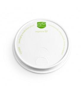Couvercle en papier pour gobelet boissons chaudes diam 89 mm - 1000 couvercles
