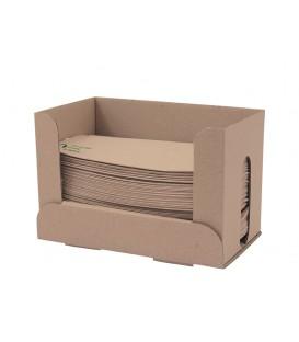 Serviette écrue simple épaisseur en fibre et porte-serviette 33 cm - 6000 serviettes