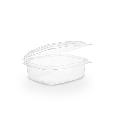 BARQUETTE À COUVERCLE RABATTABLE PLA 500 ml COMPOSTABLE - vaisselle jetable biodégradable