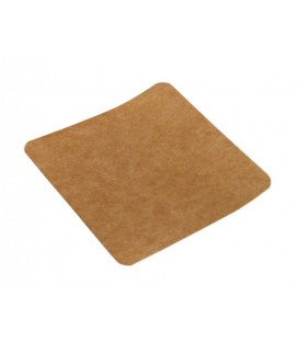 Support carré kraft rigide 12.5 x 12.5 cm - 500 supports
