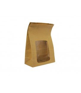 Sachet en kraft jetable doublé en NatureFlex biodégradable