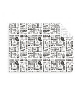 Papier sulfurisé thème grill 40 cm x 30 cm - 1000 feuilles