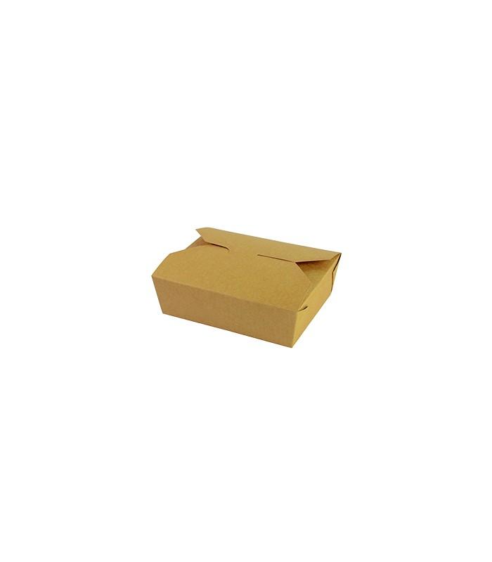 Boîte pour plats à emporter en kraft 1050 ml - Compostables