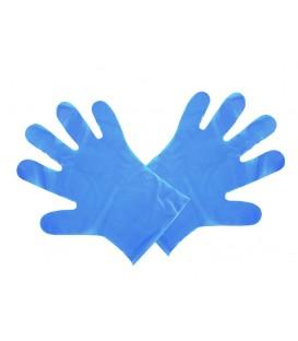 Gants bleus préparation alimentaire taille M 23 x 28 cm - 2400 gants