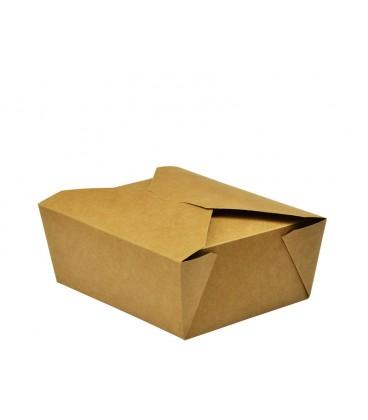 BOITE ALIMENTAIRE KRAFT N°8 COMPOSTABLE - vaisselle jetable compostable pour professionnels