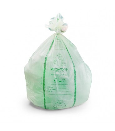 SAC POUBELLE 140L COMPOSTABLE. BIODEGRADABLE RECYCLABLE
