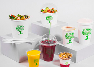 collection green tree vaisselle jetable biodégradable