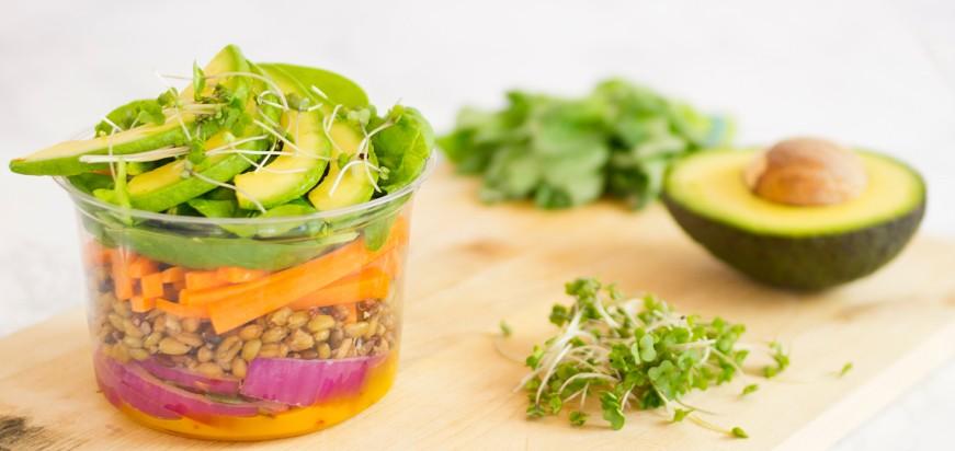 vaisselle jetable biodégradable pour les salades