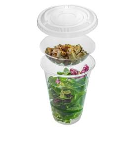 une gamme complète de vaisselle jetable biodégradable : assiette jetable, gobelet jetable, récipient à salade jetable