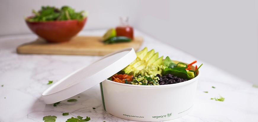bol jetable biodégradable pour salades